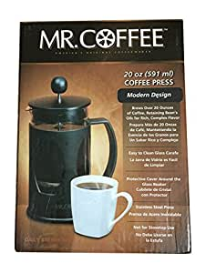 MR. COFFEE 20 OZ (591 ml) COFFEE PRESS - Modern Design