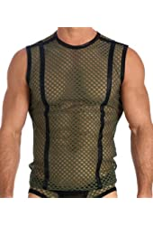 Mens Sexy Khaki Afterhour Muscle Shirt Fashion Tank Top by Gregg Homme Size X-Large