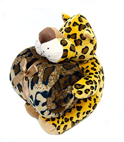 Baby Blanket & Plush Stuffed Animal Toy- Leopard