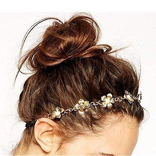 LI&HI Vintage Retro Griechisch elegant Damen Süß Perlen blumen haarbänder Haarbänder Stirnband Haarreif Haarschmuck Stirnschmuck Hochzeit Haar wrap