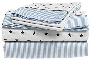 Tommy Hilfiger, Union Stars Collection, Printed Sheet Set Full Sheet Set