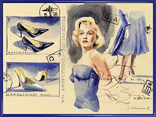 jaak-de-koninck-poster-impresion-artistica-con-marco-plastico-woman-with-style-shoes-80-x-60cm