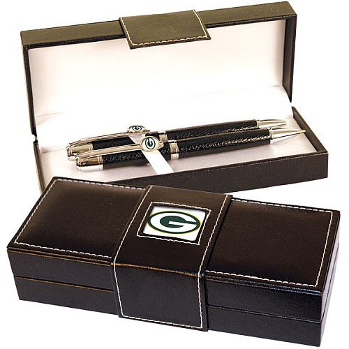 Green Bay Packers Full Leather Executive Pen Set