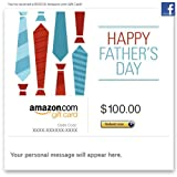 Amazon Gift Card - Facebook - Happy Father's Day (Ties)