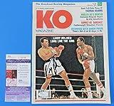 LARRY HOLMES SIGNED KO BOXING MAGAZINE ~ vs MUHAMMAD ALI ~ U34155 - JSA Certified - Autographed Boxing Magazines