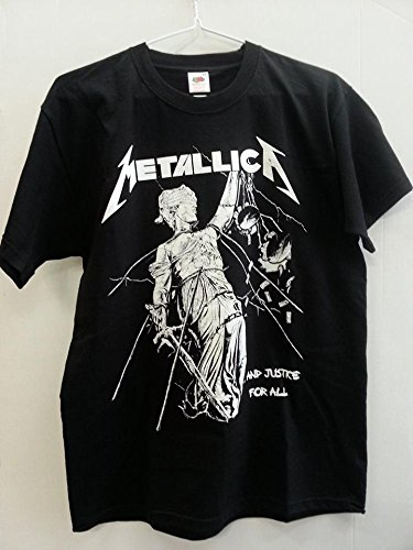 METALLICA T.SHIRT UNISEX TG. M JUSTICE FOR ALL Doppia stampa