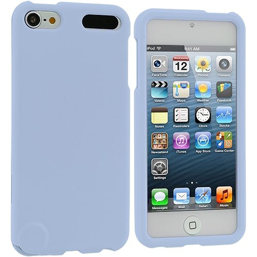 Cell Accessories For Less (Tm) Baby Blue Hard Rubberized Case Cover For Apple Ipod Touch 5Th Generation + Bundle (Stylus & Micro Cleaning Cloth) - By Thetargetbuys front-530368