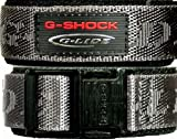 Casio G Shock Cloth & Velcro watch band. Grey Outer/Black Inner