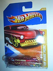 Hot Wheels 2010 30/240 New Models 30/44 '49 Drag Merc (Red with Yellow Flame)