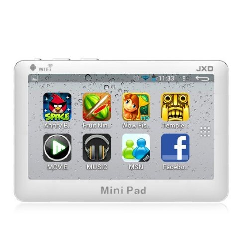 4.3-Inch JXD S18 4GB Mini Pad 1.2GHz Mini Pad for Children or Kids with Android 4.1 Tablet Approach WiFi G-sensor -White