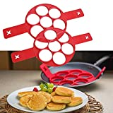 Silicone Pancake Mold,Bestwin Reusable Non-stick Cake Maker , Fried Egg Molds Pancake Rings