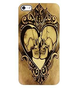 ColourCraft Funny Skulls Design Back Case Cover for APPLE IPHONE 4S