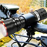 SAVFY® High Power 5w Cree LED Bike Bicycle Cycle Head Front Lamp Light Flash light Torch Up to 270 lm