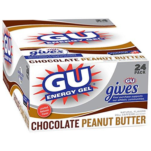 Gu Energy Gel - 24 Pack Chocolate Peanut Butter Cup, 24 Pack [Health ...
