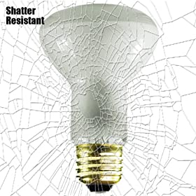 Shatter Resistant - 45 Watt - R20 Long Neck - Reflector Flood - Tough Coated - 130 Volt - Medium Base - Incandescent Light Bulb