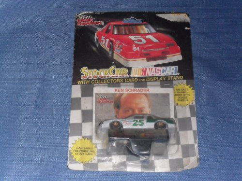 1991 NASCAR Racing Champions . . . Ken Schrader #25 1/64 Diecast . . . Includes Collectors Card and Display Stand - 1
