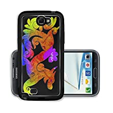 buy Liili Premium Samsung Galaxy Note 2 Aluminum Snap Case Colorful Dragon Isolated On Black Background Photo 17997411