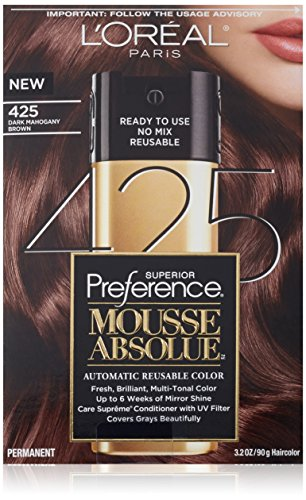 L'Oreal Paris Superior Preference Mousse Absolue, 425 Dark Mahogany Brown