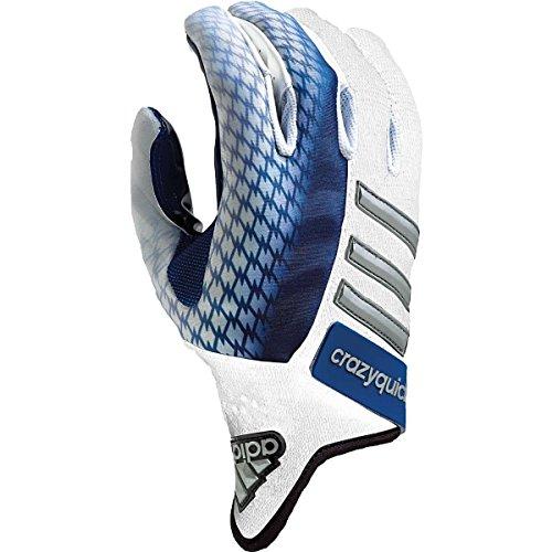 adidas Crazyquick 2.0 Football Gloves, White/ Sky Blue, SMALL (Adidas Crazyquick Football Gloves compare prices)