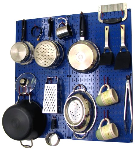 Pegboard Kitchen Storage: Wall Control Kitchen Pegboard Storage Organizer Kit Pots