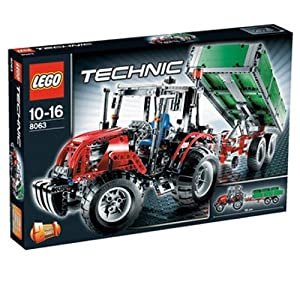 lego 8063 technic tractor with trailer lego technique with tractor trailer parallel import. Black Bedroom Furniture Sets. Home Design Ideas