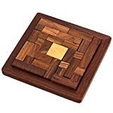 Handmade Indian Wood Jigsaw Puzzle – Wooden Toys for Kids – Travel Games for Families – Unique Gifts for Children