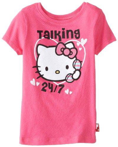 Hello Kitty Little Girls' Love Glitter Tee, Fuchsia Purple, 4T front-896122