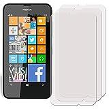 3 x Filmex Pellicola Protettiva Nokia Lumia 630 (Lumia 635 / Lumia 630 Dual Sim) - Trasparente, Prima Qualità...