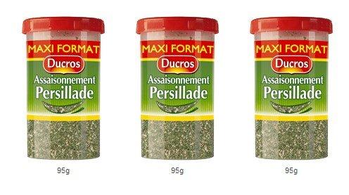 DUCROS - Poivres Herbes Epices - Herbes - Persillade - 95 g - lot de 3