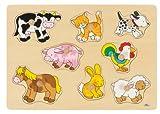 Toy - Goki 57873 - Steckpuzzle - Bauernhof VII
