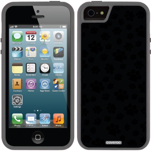 Great Price Paw Print Black design on a Black iPhone 5s / 5 Guardian / Ruggedized Case by Coveroo