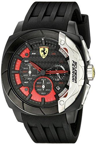 Ferrari Hombre 830205aerodinamico Reloj Negro Banda de silicona con textura