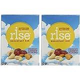 RiseBar Breakfast Crunchy, Cashew Almond, 12-Count Bars 2 Pack