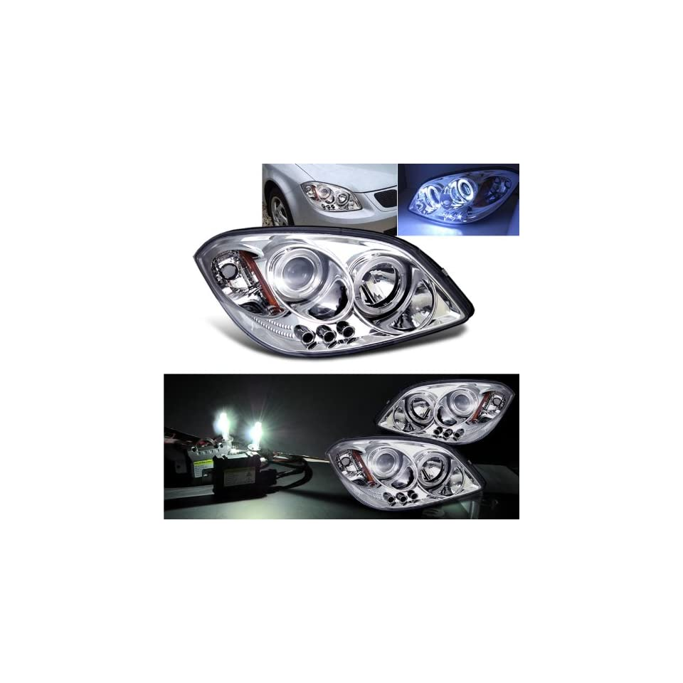 4300k Slim Xenon HID Kit+ 2005 2010 Chevy Cobalt Halo LED Projector Head Lights