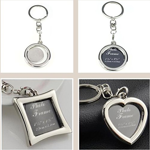 Yosoo Mini Creative Metal Alloy Buckle Insert Photo Picture Frame Keyring Keychain Car Key Chain Ring Keyfob Gift (heart-shaped) (Alloy Wallet Insert compare prices)