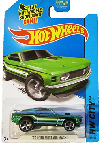 Hot Wheels - 2014 HW City 97/250 - '70 Ford Mustang Mach 1 (green) - 1