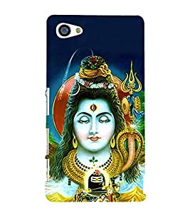 Om Namah Shivaya 3D Hard Polycarbonate Designer Back Case Cover for Sony Xperia Z5 Compact :: Sony Xperia Z5 Mini