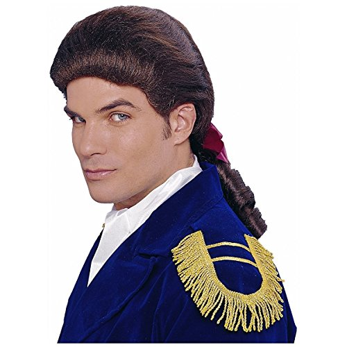 [GSG Colonial Wig for Adult Mens 18th Century Costumes Fancy Dress] (Cabaret Costumes For Men)