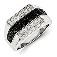 Sterling Silver Rhodium Plated Black…