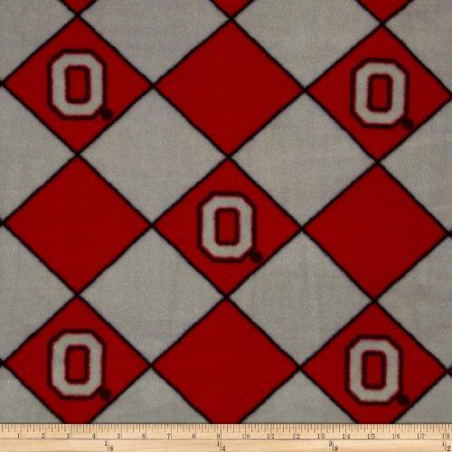 Collegiate Fleece Ohio State University Argyle Red Fabric front-587547