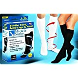 Brand New Miracle Socks As Seen On TV Black Unisex Pain Relieving Socks (S/M, BLACK)