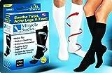 Brand New Miracle Socks As Seen On TV Black Unisex Pain Relieving Socks S M BLACK