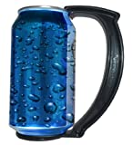 The Can Grip 12-Ounce, Instantly Turn Your Can Into a Mug Handle, Black, Set of 5