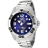 Swiss Watches:Invicta Men's 0443 Pro Diver Blue Dial Stainless Steel Swiss Quartz Watch