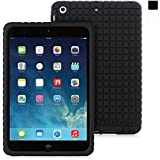 Snugg iPad Mini 1 / 2 / 3 Silicone Case - Protective, Non-Slip Silicone Case With Lifetime Guarantee (Black) For Apple iPad Mini, iPad 2 Retina & iPad Mini 3