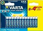 Varta - Pile Alcaline - AAA x 8 + 4 g...