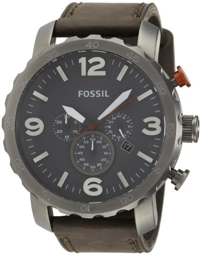 Fossil Men's JR1419 Nate Analog Display Analog Quartz Grey Watch