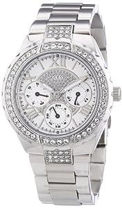 Guess - W0111L1 - Sparkling - Montre Femme - Quartz Analogique - Cadran Argent - Bracelet Acier Argent