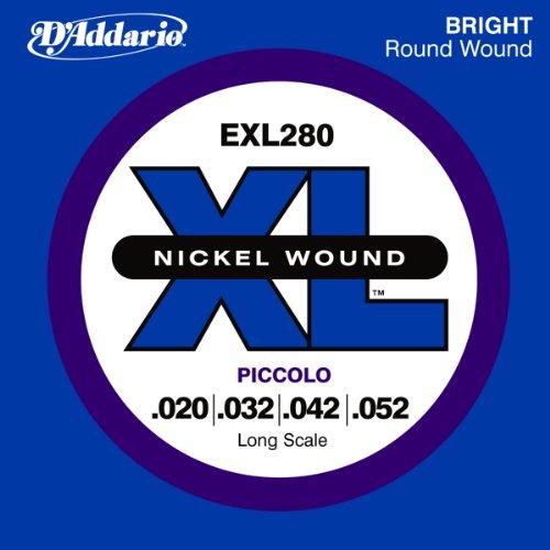 D'Addario EXL280 Nickel Wound Piccolo Bass Strings,
