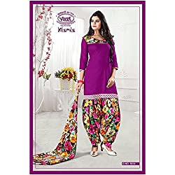 Vivel Women's Unstitched Cotton dress material (SS_15_Pack of 1_Large)